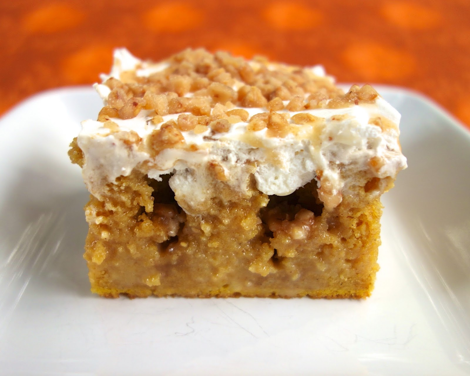 Pumpkin Spice Poke Cake | Plain Chicken