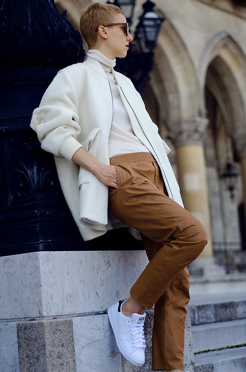 h&m studio aw14 white jacket stan smith adidas beeswonderland