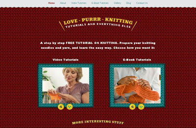 Free CSS Red Knitting Ladies Blog Website Template
