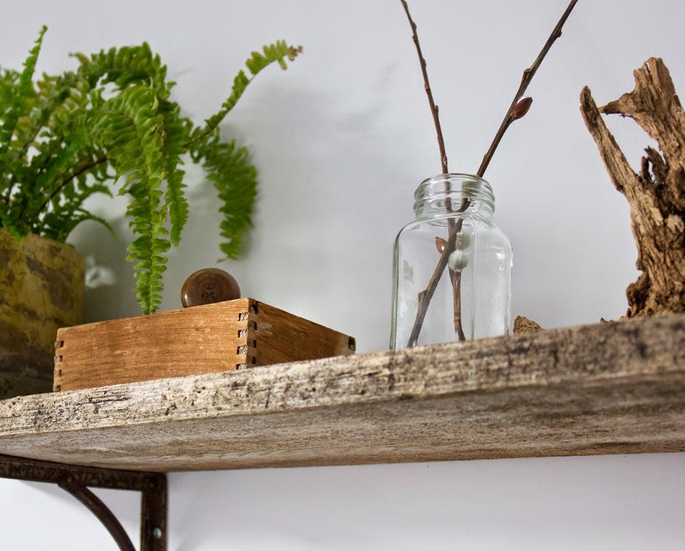 vintage plant shelf