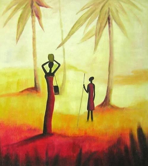 Super L'Arte accessibile:Arredare con i Dipinti a Olio: Le Donne  OG24