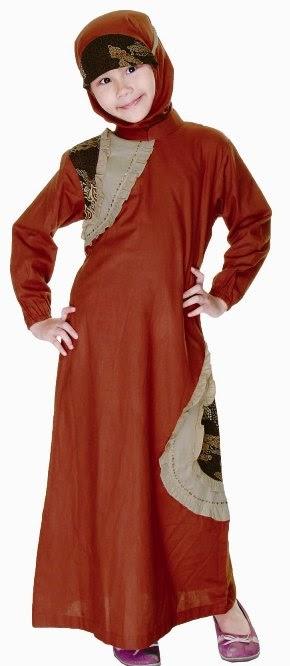 Model baju batik muslim putri casual