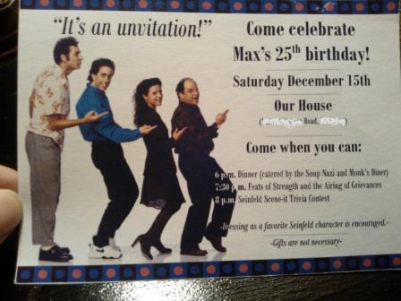 Our Deseret Home Seinfeld Themed Birthday Party