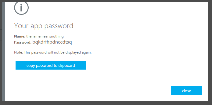 what is a microsoft app password