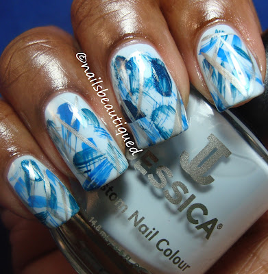 Jessica Barely Blueberry-Dry Brush Method Nailart Design