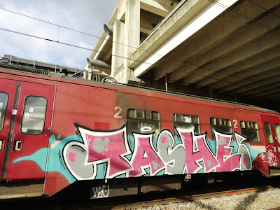 graff on the trains