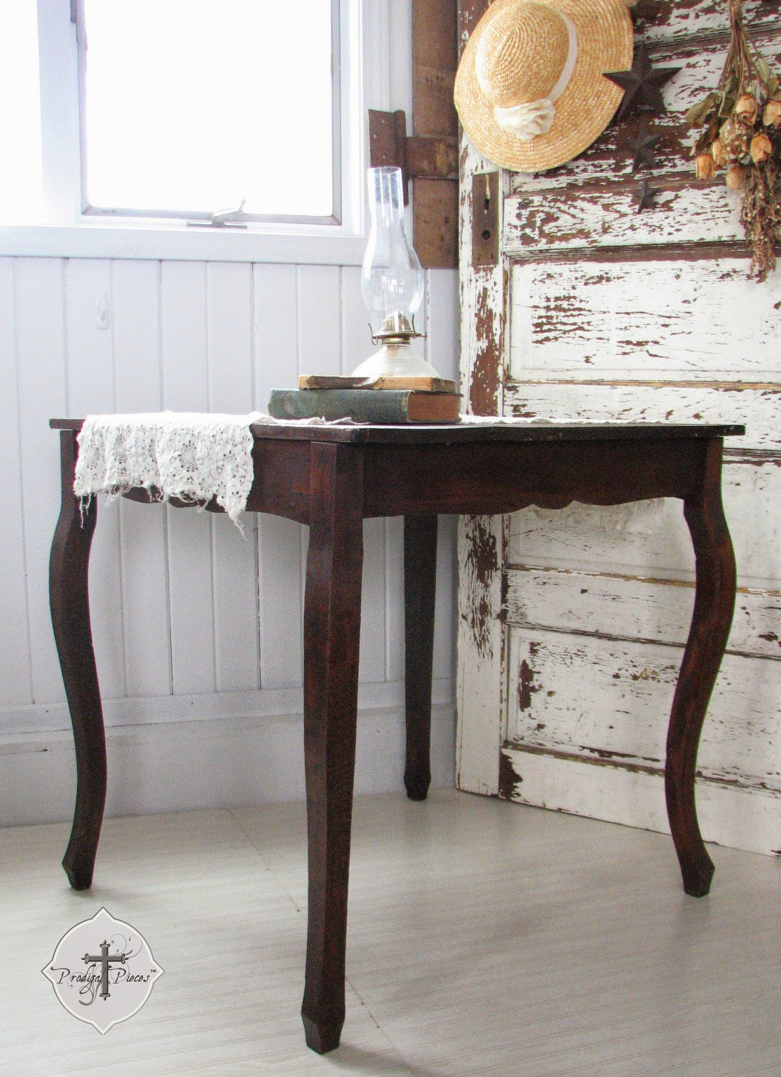 Rustic Farmhouse Table with Tongue & Groove Plank Top via http://www.prodigalpieces.com