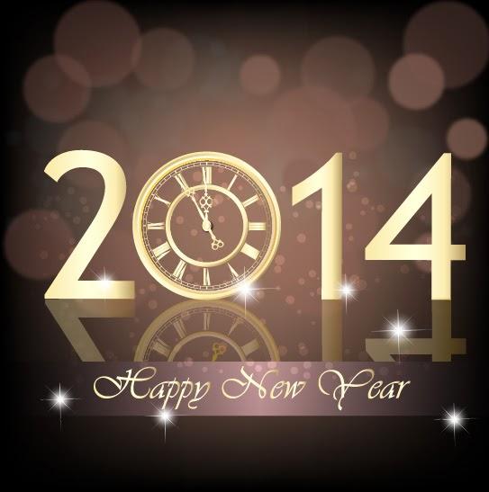 Logo 2014 marrón y dorado - Vector