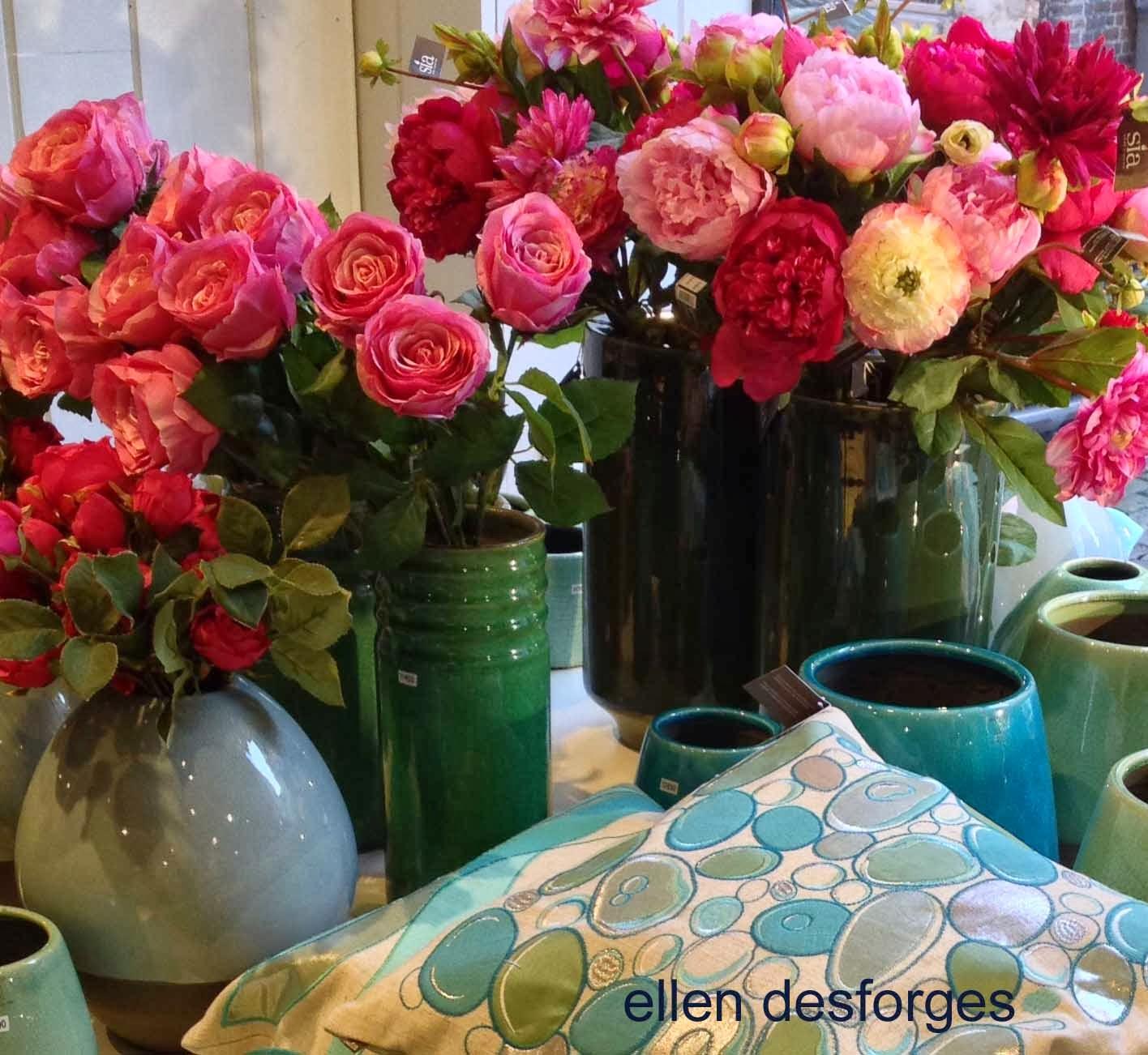 Ellen desforges printemps 2014 sia propose une collection de vases et cache - Sia fleurs artificielles ...