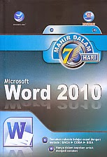 toko buku rahma: buku MAHIR DALAM 7 HARI MICROSOFT WORD 2010, pengarang madcoms, penerbit andi