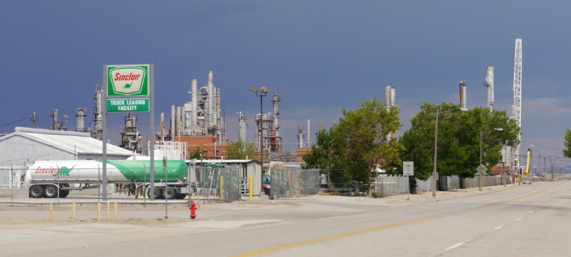 the Sinclair refinery