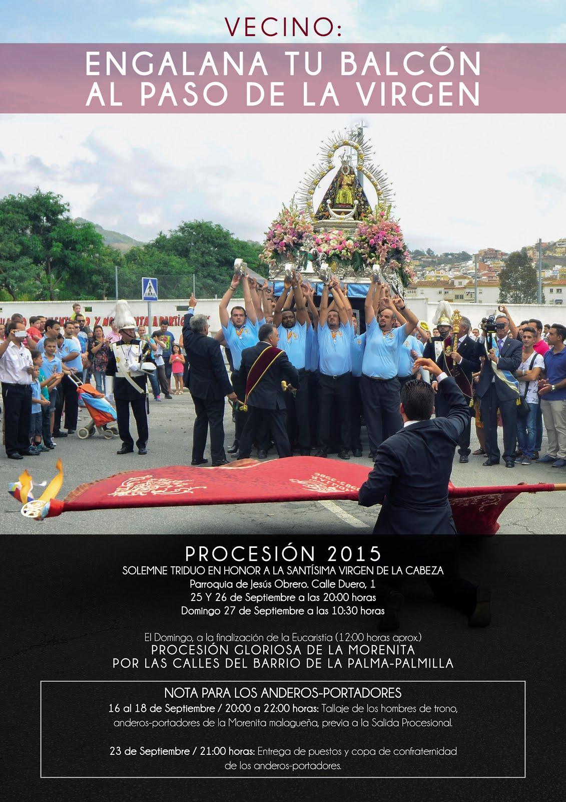 Programa Oficial de Actos y Cultos PROCESIÓN 2015.