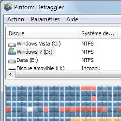 capture d'écran de Defraggler