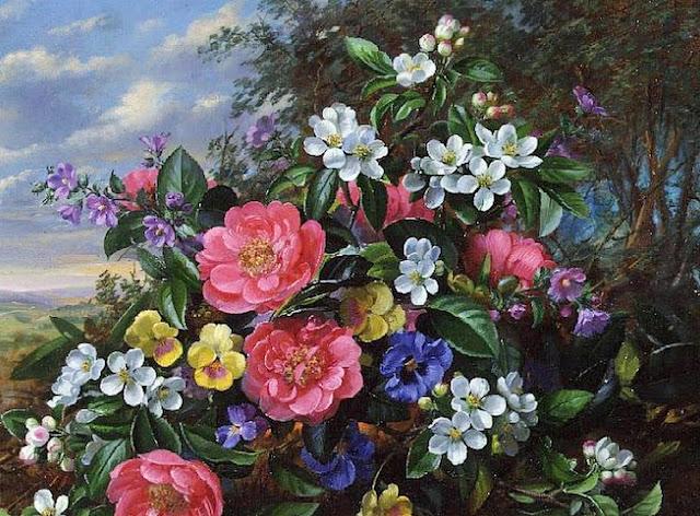 flores-realismo-oleo sobre-lienzo