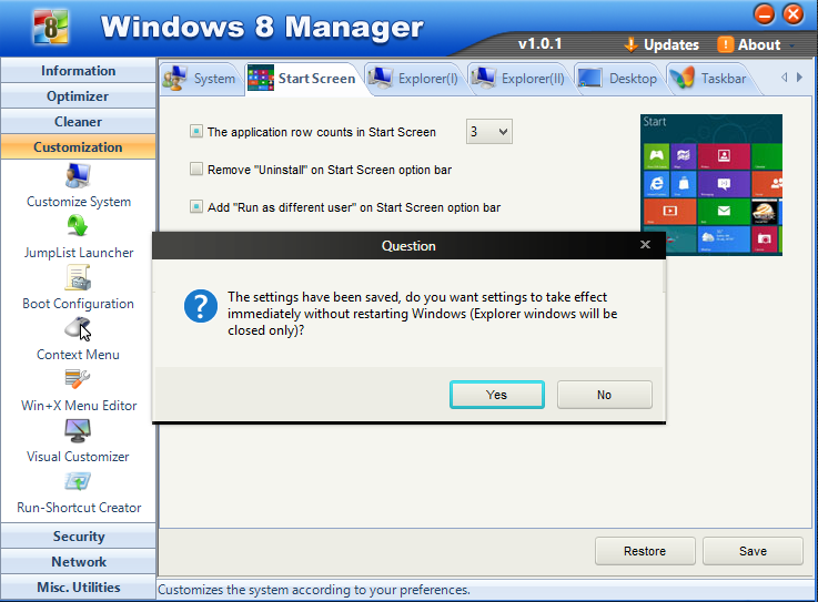 Cara modifikasi start scren windows 8 1