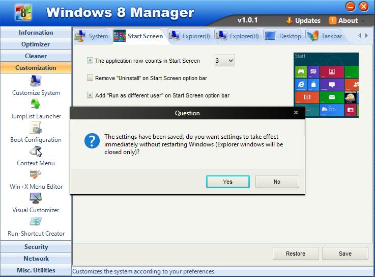 Cara modifikasi start scren windows 8 1