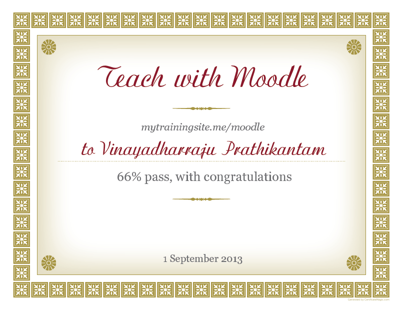 vinay's course certificate