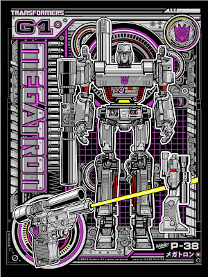 Acidfree Gallery - Megatron Transformers Standard Edition Screen Print by Jesse Philips