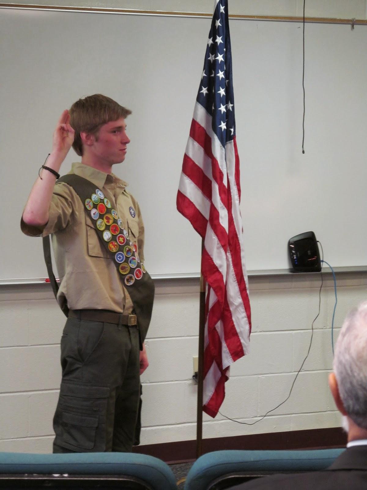 Montgomery Catholic's David Fulton Receives Eagle Scout Rank 1