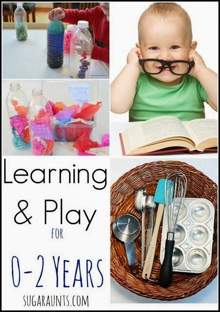 Great ideas for playful learning in 0-2 years old.