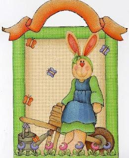Imagem para decoupage de coelha