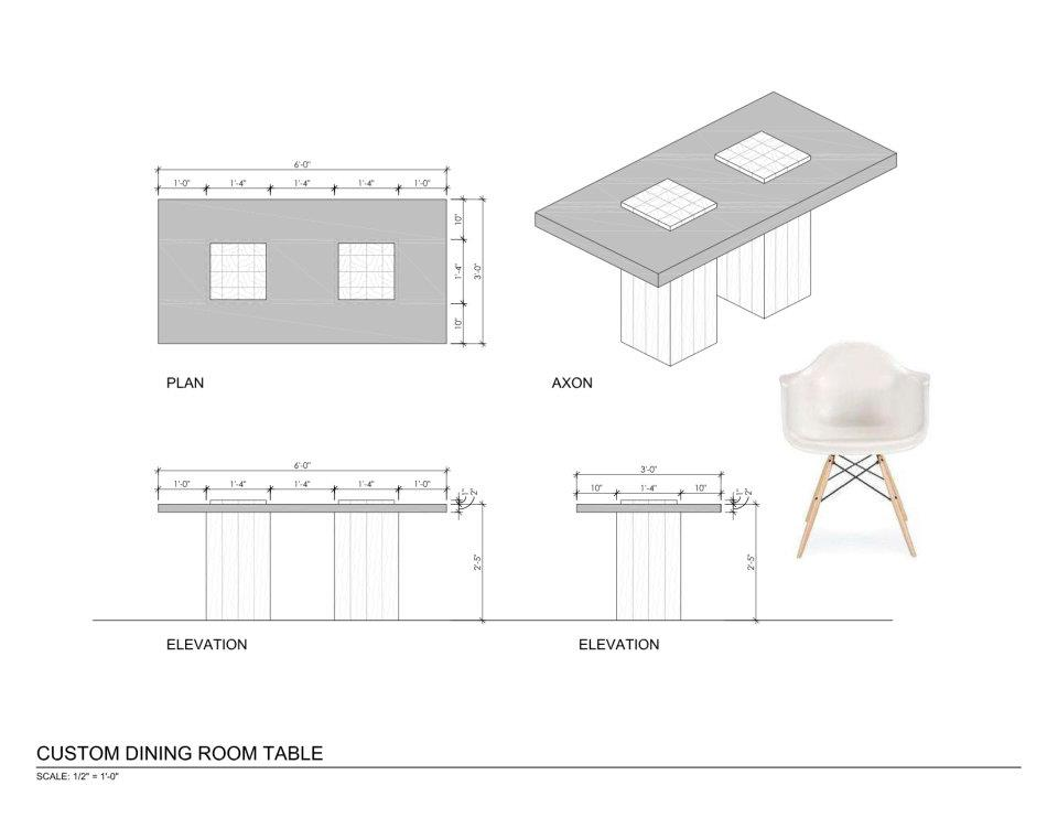 Dining Table Dining Table Cad Detail
