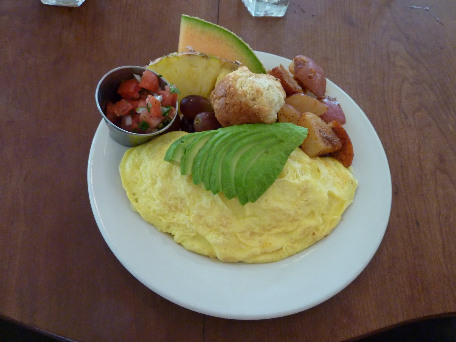 avocado omelette which puts the yum back into wholesome goodness