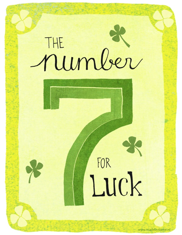 The number 7 for luck