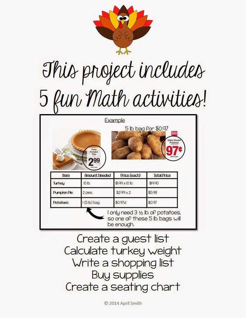 http://www.teacherspayteachers.com/Product/Project-Based-Learning-Plan-Thanksgiving-Dinner-Decimals-Geometry-Estimation-959926