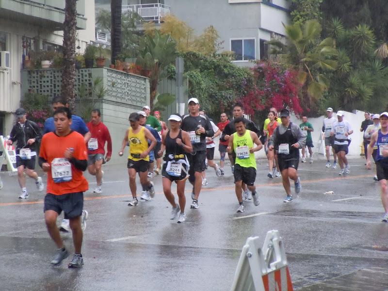 LA Marathon 2011 rainy conditions