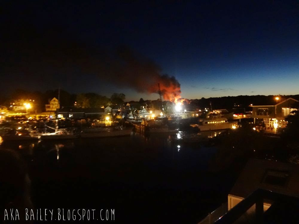 Fire in Kennebunkport, Maine. June 2014