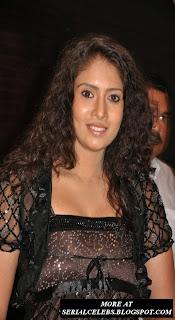 Actress Sanghavi in transparent dress