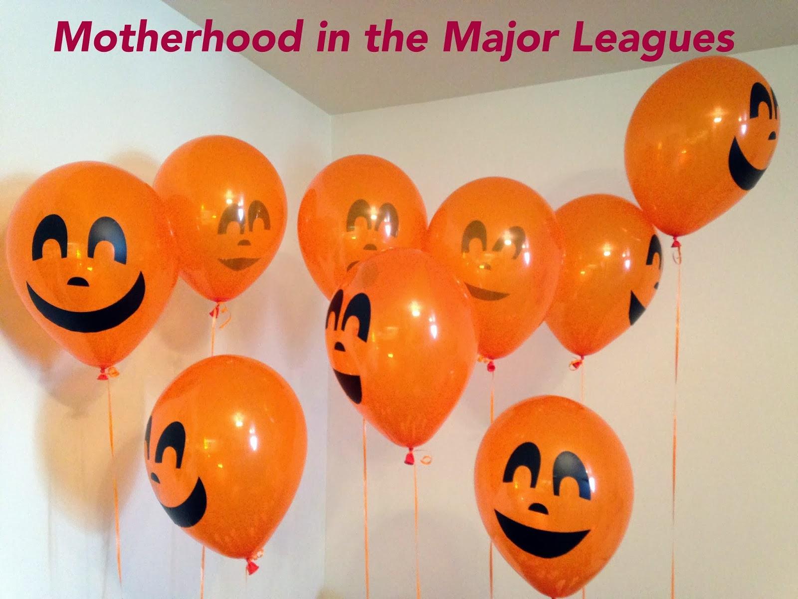 motherhood in the major leagues : diy saturday: toddler halloween party