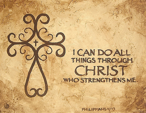 I Can Do All Things This Through Him Who Gives Me Strength