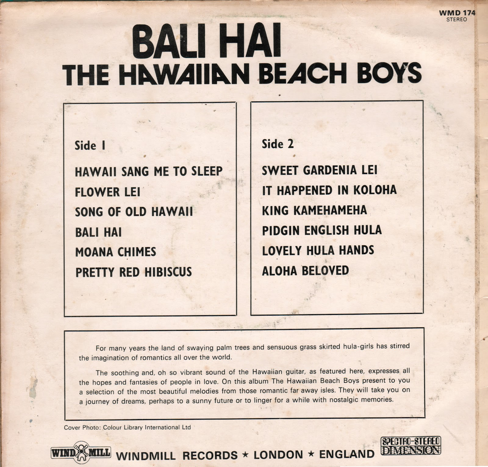 The Hawaiian Beach Boys - Bali Hai