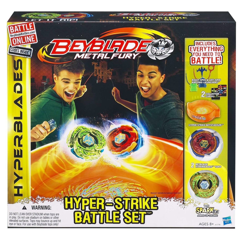 Beyblade Metal Fury Hyperblades Hyper-Strike Battle Set