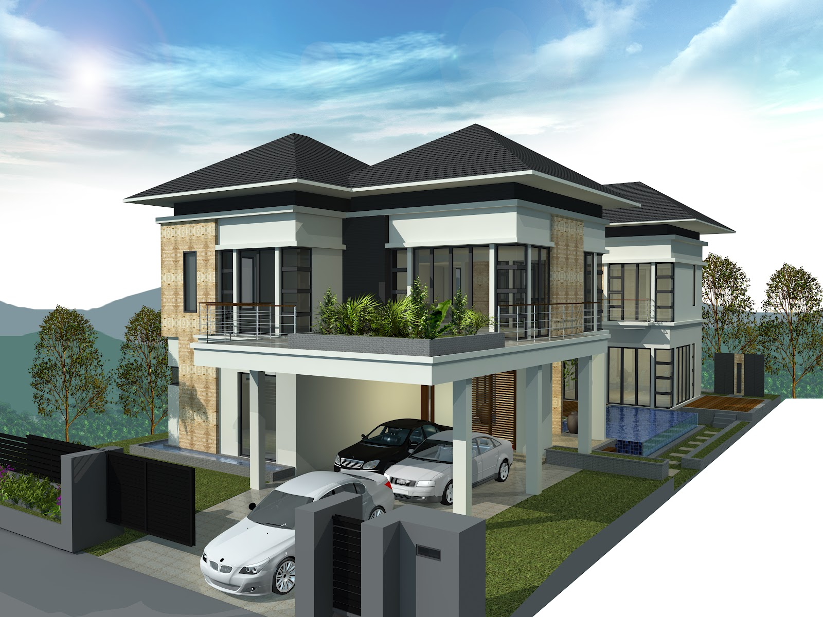 Bungalow houses pictures in malaysia joy studio design gallery best design Home architecture malaysia