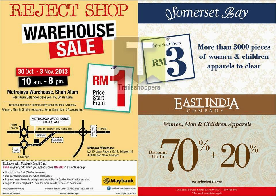 Reject Shop Warehouse Sale 2013 Somerset Bay East India Company Metrojaya