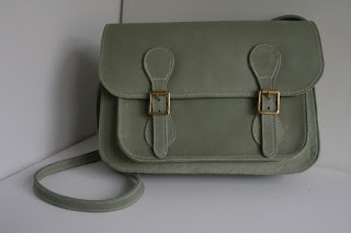 handmade leather bag, school satchel