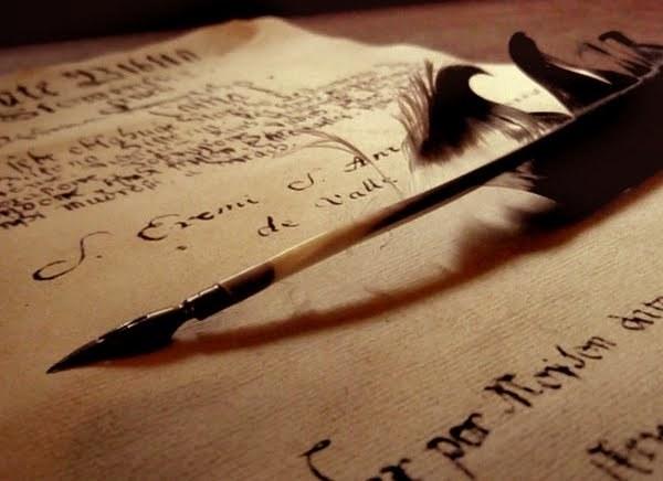 Scrisoare, pana de scris
