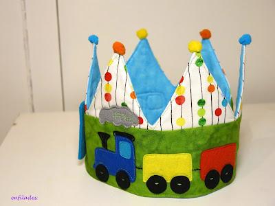 Corones d'aniversari trenet nens i nenes fetes a mà Enfilades