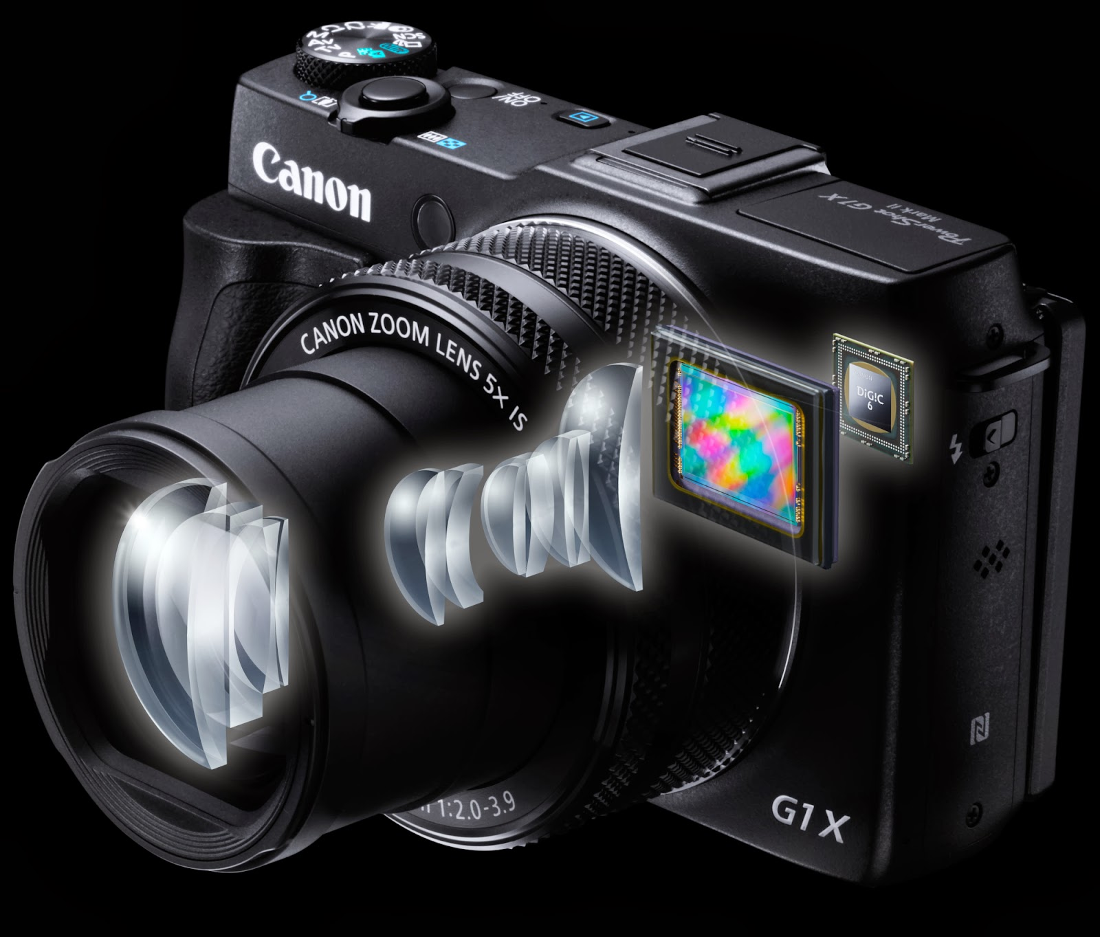 Canon PowerShot G1X Mark II, mini DSLR, NFC, Wi-Fi, Full HD video, Android, iOS, creative photo, new canon lens, touchscreen LCD