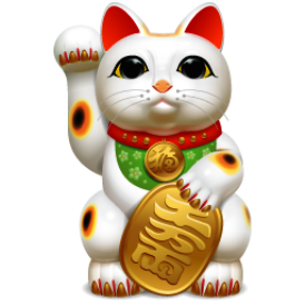 Amazon.com: 1 X Japanese Maneki Neko Fortune Cat Lucky Cat White ...