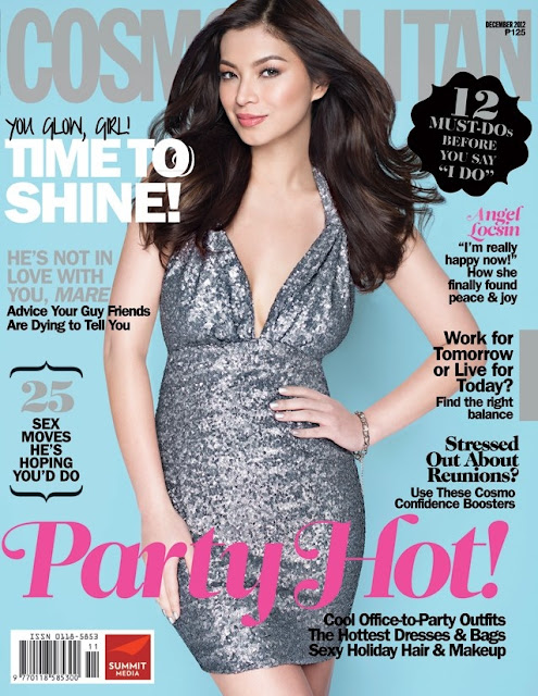 Angel Locsin Covers Cosmopolitan Magazine December 2012 Issue