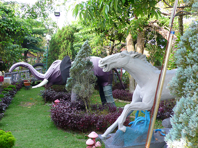 Wild horses at Bukit Genting: Folk art.