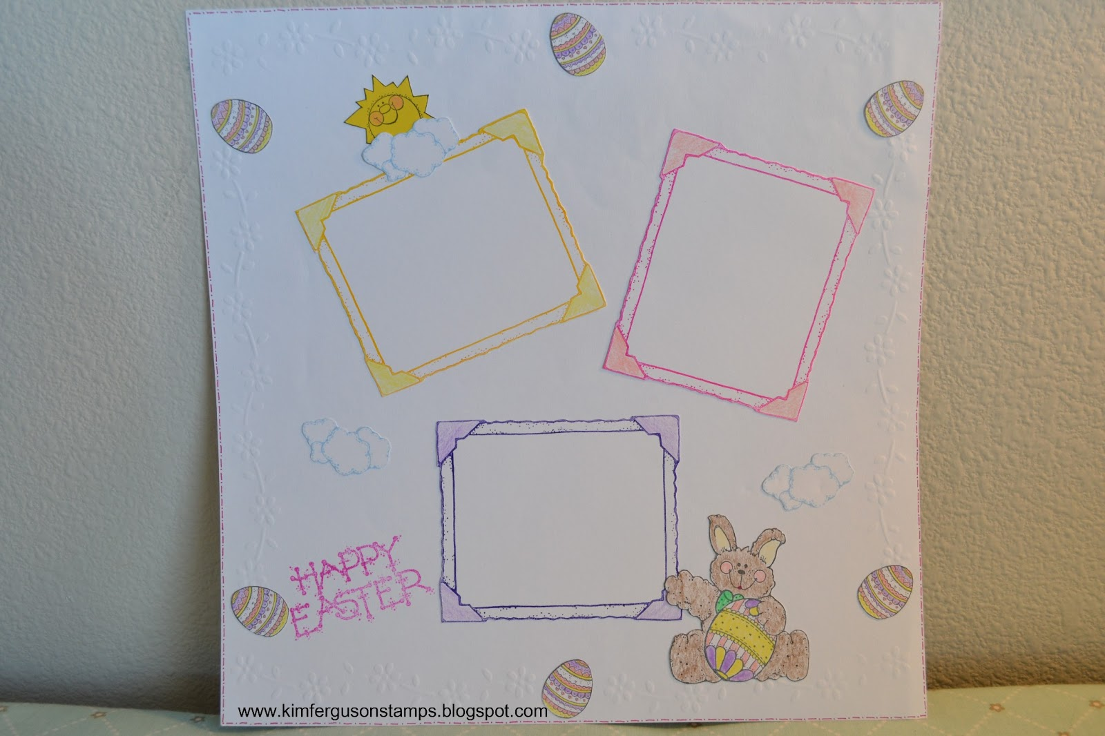 Scrapbook ideas easter - Kim Fergusons Paper Crafting Blog Easter Scrapbook Title Page Saturday March 30 2013 Salsuba Image Collections