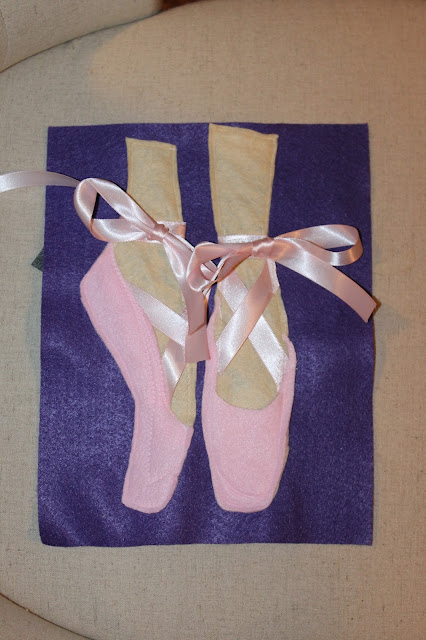 quiet book ballet shoes for toddlers tying a bow