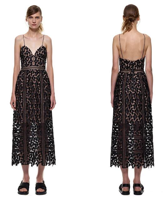 guipure lace dress arabella midi self-portrait