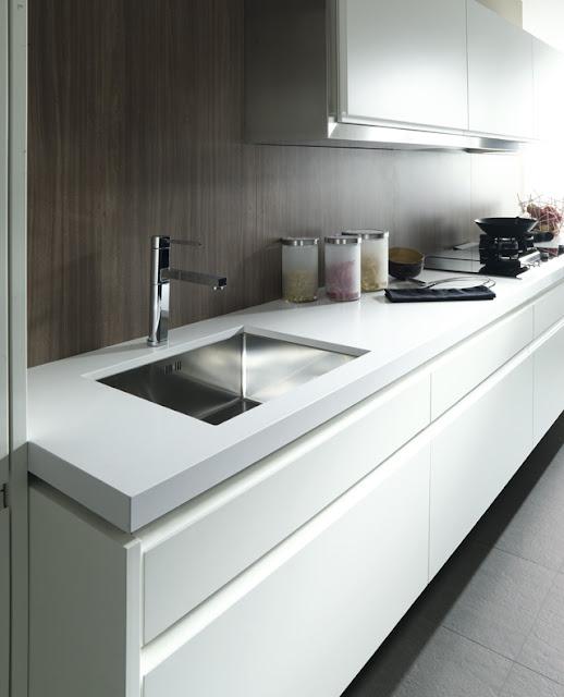 Cocinas luminosas con los acabados en blanco de gamadecor porcelanosa blog - Acabados de cocinas ...