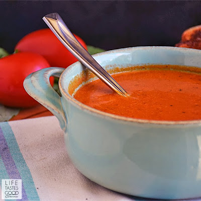 Tomato Basil Soup | by Life Tastes Good